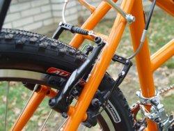 detail horského tandemového kola