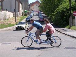 jízda na tandemovém kole